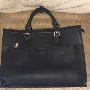 🎁Black leather tote cross body laptop and bag🎁